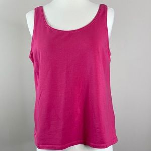 Eileen Fisher Pink Tank Top Large  Organic Cotton